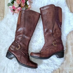 Clarks Leather Knee High Boots